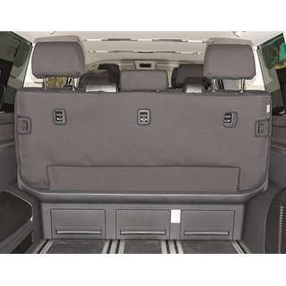 Second Skin coprisedili, per panca 3 posti/letto, con attacchi Isofix, VW T6.1/T6 Multivan und Beach, Design Quadratic