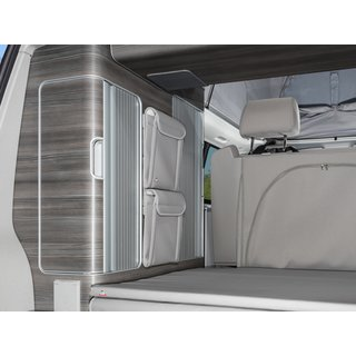Utility armadio centrale,tra lembi, ideal con iXTEND PAD, VW-T5/T6 California, Design Pelle Moonrock